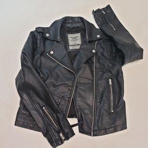 SOLD ON MERCARI Abercrombie motor leather jacket
